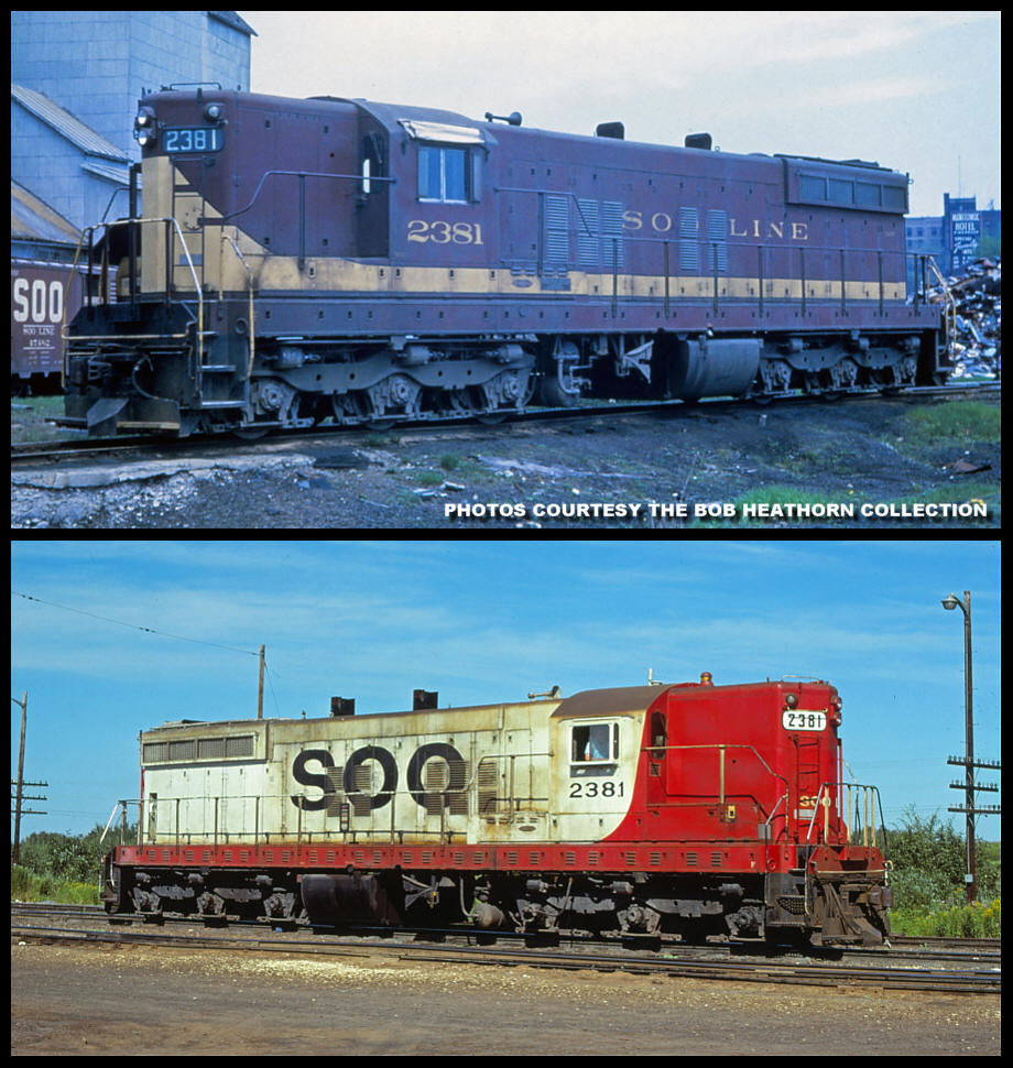 Soo Line 2381 before and after